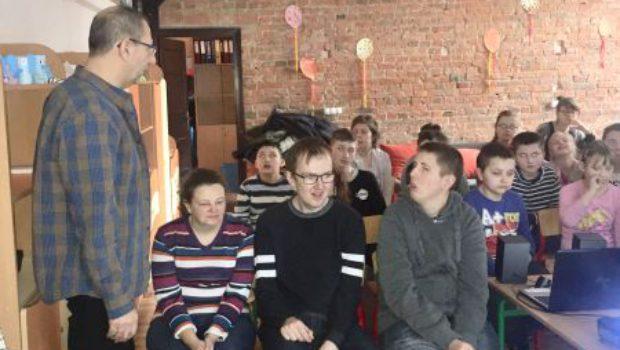 Wizyta gości z Dziennego Ośrodka Adaptacyjnego nr 1